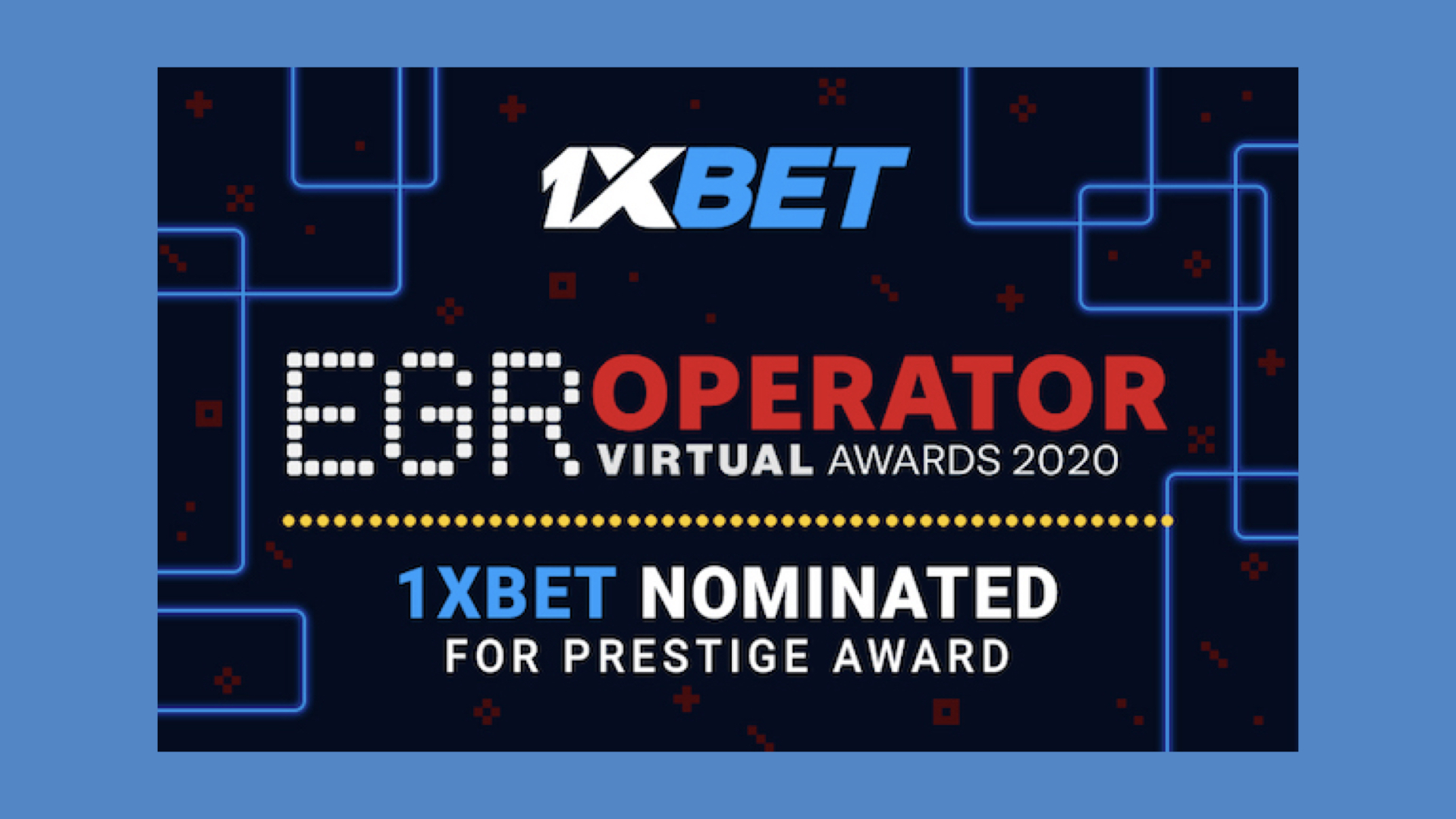 1xBet nominated at EGR Awards for eSports