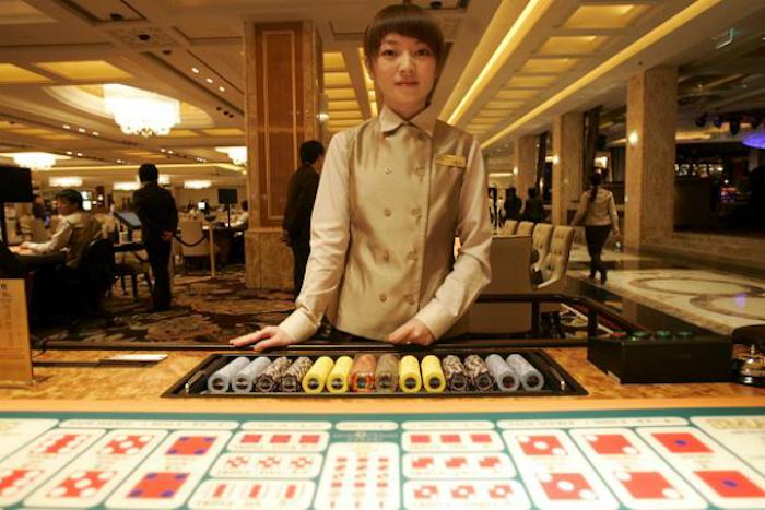 Macau casino dealer